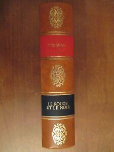 Livre relié cuir : Le rouge et le noir de Stendhal numéroté éd. Bellevue
