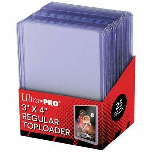 "Ultra Pro 3"" X 4"" Clear Regular Toploader 25ct Sealed MTG MAGIC POKEMON YUGIOH"