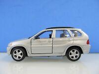 1:42 - BMW X5 - Silber - MAISTO - DieCast-Modell - aufziehend-selbstfahrend