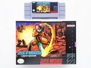 Super Metroid Zero Mission - Game / Case SNES Super Nintendo - ROM Hack (USA)