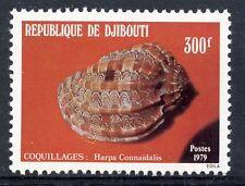 TIMBRE REPUBLIQUE DE DJIBOUTI N° 514 ** FAUNE MARINE COQUILLAGE