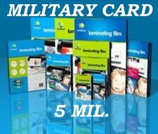 25 MILITARY CARD Laminating Pouches Laminator Sheet 2-5/8 x 3-7/8 5 Mil Quality