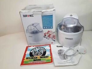 Duronic LM525 Ice Cream Maker (1.2L) + Ben & Jerrys Ice Cream Book