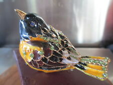 3879 Oriole Jeweled & Enamel Trinket Box ~ Boutique Miniature