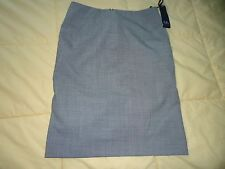 NEW Anne Klein size 2P Petite Stretch Small Black & White Check Short Skirt