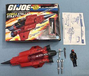 Hasbro G.I.JOE 1988 Cobra Stellar Stiletto Star Viper Blueprints Box