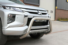 MITSUBISHI L200 TRITON CHROME NUDGE A-BAR STAINLESS STEEL BULLBAR 2020+ W K