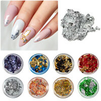 8X Nail Art Glitter Foil Chips UV Gel Acrylic Sequins Manicure Flakes Nails Tips