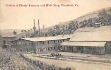 WESTFIELD, TIOGA COUNTY, PA, EBERLE TANNERY & WELT FACTORY OVERVIEW, used 1911