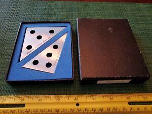 Mitutoyo Steel Tri-Square 981-103 set 30 & 45 degree no. 010013 & 010014