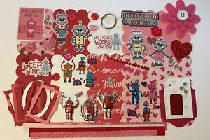 Robot Love Nuts and Bolts About You Mini Book Chipboard Album Kit Scrapbook