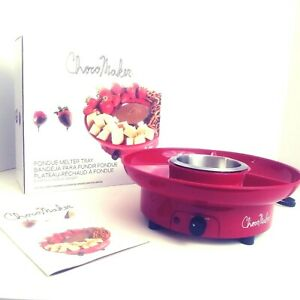 ChocoMaker Fondue Melter Tray Electric Red Stainless Bowl 6 Ounces NEW