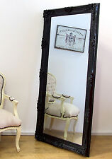 Abbey Large Shabby Chic Vintage Wall Leaner Mirror Black - 6 FT X 3.4ft