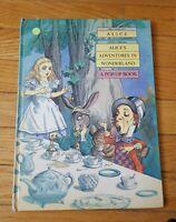 Alice's Adventures in Wonderland Pop Up Book Dell Yearling Vintage Rare