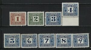 CANADA REVENUE - POSTAL NOTE MINT STAMPS