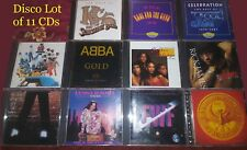 Lot of 11 CDs 159 Song DISCO COLLECTION !! Abba EWF Kool & Gang KC Donna Summer