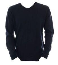 Cotton V Neck Patternless Long Jumpers & Cardigans for Men