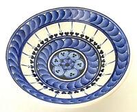 """Turkish Iznik Gini Kutahya Bowl Blue & White Ceramic Hand Made 1.75""""H x 4""""W EUC"""