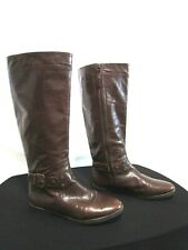 Nine West Truthe Brown Leather Knee High Riding Boots Women Size 6 M