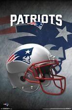 NEW ENGLAND PATRIOTS - HELMET LOGO POSTER - 22x34 NFL FOOTBALL 14991