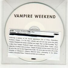 (GG332) Vampire Weekend, Run - 2010 DJ CD