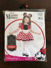 Disney Minnie Mouse Toddler Girl Halloween Costume Full Dress & Ears Set 3-4 yrs