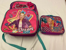 Jojo Siwa Backpack And Matching Zipper Lunchbox