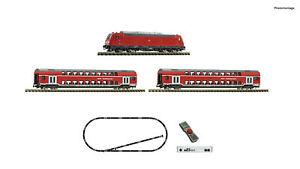 Fleischmann 931897 N Gauge z21 Set Diesel Locomotive Br 245+ Passenger Train