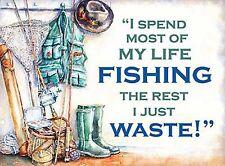 FUNNY NOVELTY GIFT FOR MEN FISHING JOKE BIRTHDAY PRESENT GIFT IDEA METAL PLAQUE