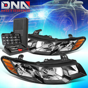 FOR 2010-2013 FORTE KOUP BLACK HOUSING AMBER SIGNAL HEADLIGHT HEAD LAMPS+TOOLS