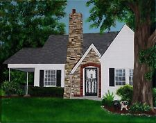 House Paintings Custom Commission Home Art Homes Cabins Victorians Capes Ranches
