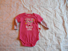 Reindeer One piece, I light up Daddy's life, 3/4 sleeves, 0-3 months,