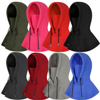 Men Balaclava Fleece Hoods Hat Warmer Snood Scarf Neck Tube Thermal Cycling Cap
