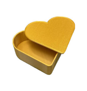 Heart Shaped Shaped 3 inch Decor Jewelry Box / Container