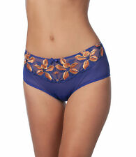 SLIP SHORT CULOTTE PANACHE CARMEL XL UK 16 - EUR 42 BRAZILIAN BRIEF ORANGE BLUE