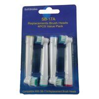 4 Têtes de Recharge Brosse à Dent Electrique Compatibles Oral-B Remplacement