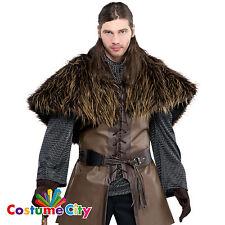 Les adultes medieval warrior fourrure épaule cape accessoires costume robe fantaisie