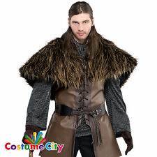 Adults Medieval Warrior Fur Shoulder Cape Fancy Dress Costume Accessory