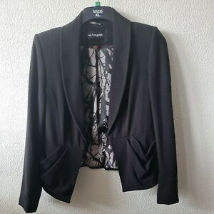 Marks And Spencer Autograph Womens Ladies Black Blazer - Size 12