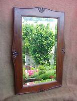 Très beau ancien miroir en noyer de style Louis XVI - début XXe siècle