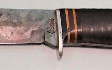 "J.C. Higgins (Case) 5 1/2"" Blade Hunting Knife w/Sheath"