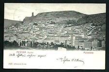 Pescina ( L'Aquila ) - cartolina viaggiata nel 1904 - Ediz. Alterocca Terni n. 1