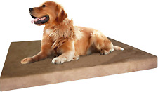 Dogbed4Less Extra Large True Orthopedic Gel Memory Foam Dog Bed for Large Pet, W