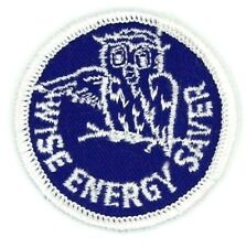 Vintage Wise Energy Saver Owl Patch