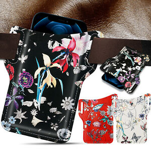 Waist Bag PU Leather Universal Cell Phone Loop Holster Belt Pouch Case Cover US