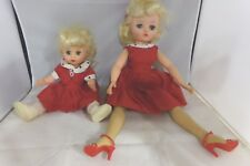 Uneeda 28 Vintage jointed Mother (19�) Daughter (12�) Doll Set matching outfit