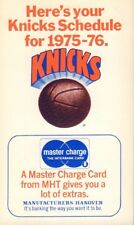 1975-76 New York Knicks Basketball Schedule jhhp