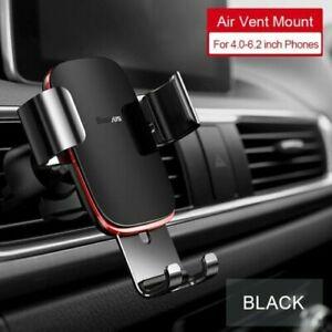 Baseus Gravity Car Phone Holder CD Slot Air Vent Mount for iPhone & Samsung
