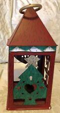 Holiday Season Decor Tin House Tealight Candle Holder