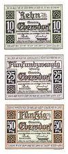 Ebersdorf 10, 25 & 50 Pf. 01.07.1921 Grab. 302.1 Erh. I